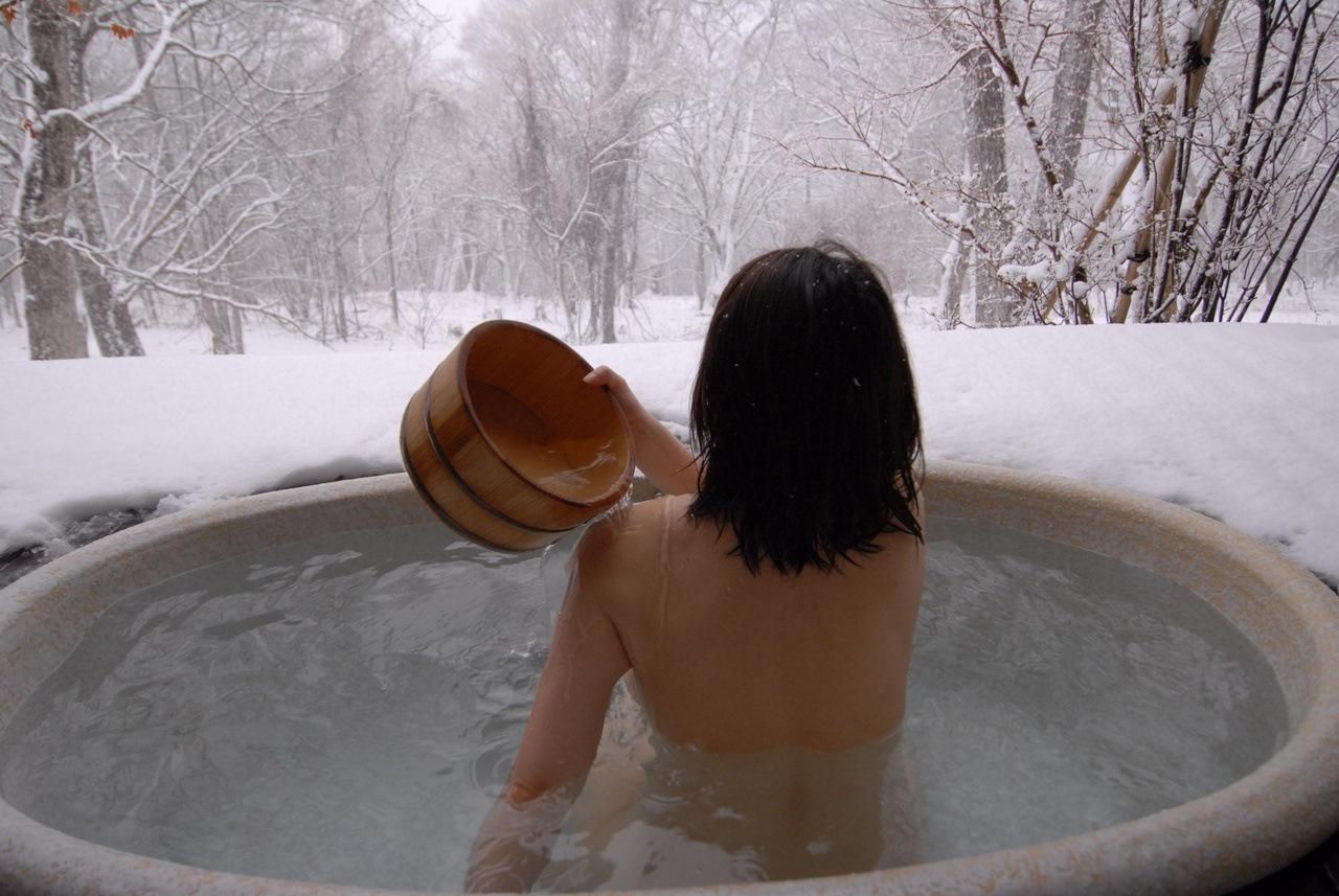 купание в купели после бани